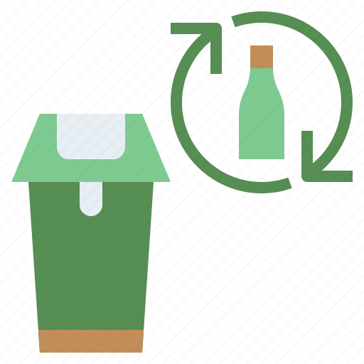 arrows, bottle, eco, ecologism, ecology, glass, plastic, recycle, reuse icon