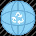 earth, globe, heart, love, shapes icon