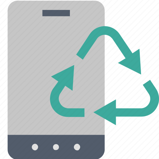 disposal, ecology, electronics, environment, recycling, smartphone, waste icon