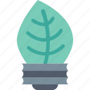 bulb, eco, green, idea, innovation, leaf, nature icon