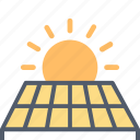 ecology, electricity, energy, green, panel, solar, sun icon