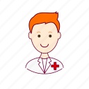 .svg, enfermeiro, job, nurse, profession, professional, profissão, red head, ruivo, white man icon