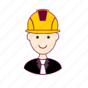 .svg, engenheiro, engineer, job, profession, professional, profissão, red head, ruivo, white man icon