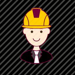 .svg, engenheiro, engineer, job, profession, professional, profissão, red head, ruivo, white man icon