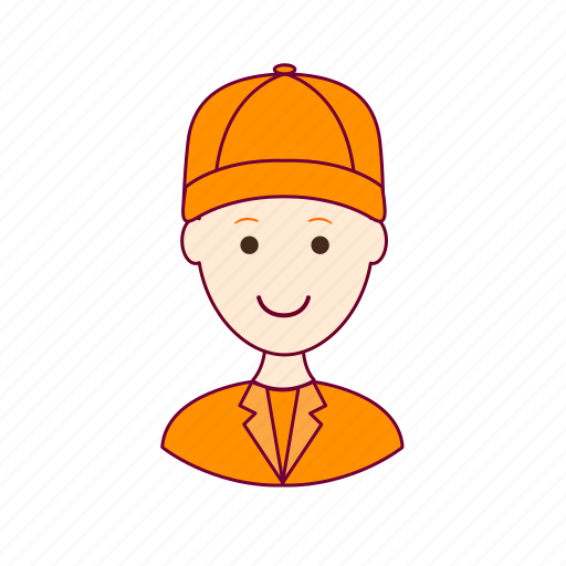 .svg, gari, job, limpador de rua, profession, professional, profissão, red head, ruivo, street sweeper, white man icon
