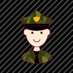 .svg, job, militar, military, profession, professional, profissão, red head, ruivo, white man icon