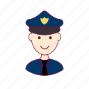 .svg, job, police efficer, policial, polícia, profession, professional, profissão, red head, ruivo, white man icon