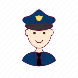 job, police efficer, policial, polícia, profession, professional, profissão, red head, ruivo, white man icon