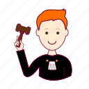 .svg, job, judge, juiz, profession, professional, profissão, red head, ruivo, white man icon