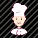 .svg, chef, chefe, chefe de cozinha, cook, job, profession, professional, profissão, red head, ruivo, white man icon