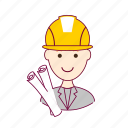 .svg, architect, arquiteto, job, profession, professional, profissão, project, projeto, red head, ruivo, white man icon