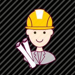 .svg, architect, arquiteto, job, profession, professional, profissão, project, projeto, red head, ruivo, white man icon