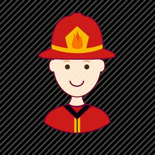 .svg, bombeiro, firefighter, fireman, job, profession, professional, profissão, red head, ruivo, white man icon