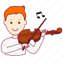 .svg, job, musician, músico, profession, professional, profissão, red head, ruivo, white man icon