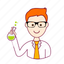 .svg, cientista, job, profession, professional, profissão, red head, ruivo, scientist, white man icon