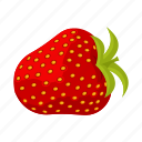 berry, food, fruit, red, strawberries, vegetable icon