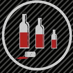 bar, bottles, cork, red, wine icon