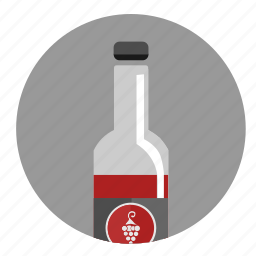 alcohol, bottle, red, wine icon