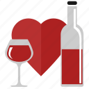 bocal, drink, love, red, romantic, wine icon