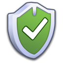 security, firewall, on, shield, check, yes icon