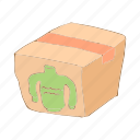 aid, box, cartoon, donate, donation, humanitarian, people icon