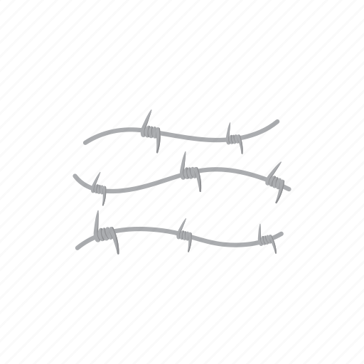 barbed, danger, metal, prison, protection, security, wire icon