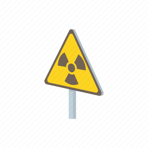 atomic, danger, nuclear, radiation, radioactive, safety, warning icon