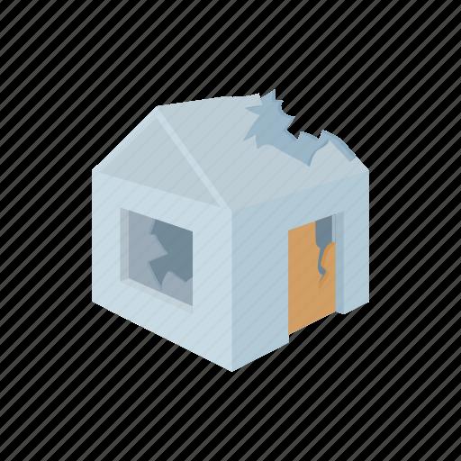 building, damage, debris, destruction, disaster, house, ruin icon