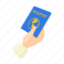 document, identity, immigration, passport, tourism, tourist, vacation icon