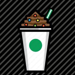 coffee, cream, drink, frappucino, ice, regular icon
