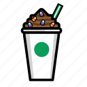 coffee, cream, drink, frappucino, ice, regular icon
