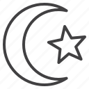 crescent, islam, moon, star