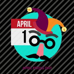 april fools day, celebration, day, funny, illustration, jester, joker icon