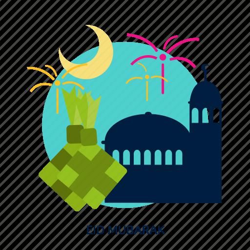celebration, eid, eid mubarak, mubarak, muslim, ramadan, religion icon