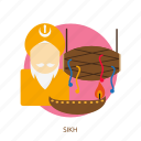 celebration, festival, happy, religion, sikh, sikhism, traditional icon