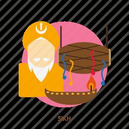 celebration, festival, happy, religion, sikh, sikhism, traditional icon