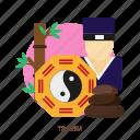 culture, harmony, religion, taoism, yang, yin, zen icon