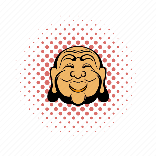 buddha, comics, god, head, indian, pointillism, spiritual icon
