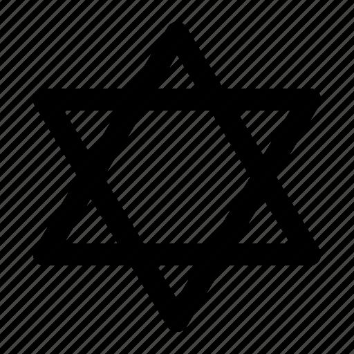 david, jew, jewish, judaism, religion, star icon