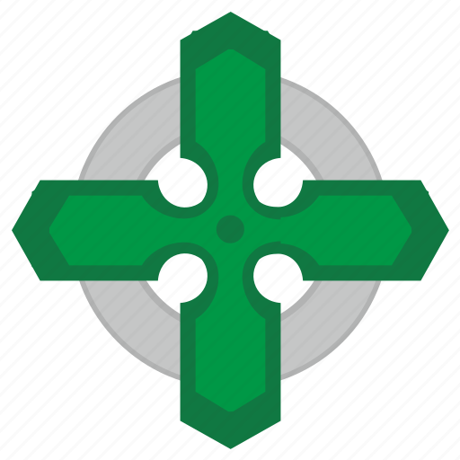 celtic, cross, ireland, religion, round, sign icon