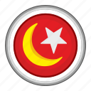 islam, moon, religion, round, sign, star icon