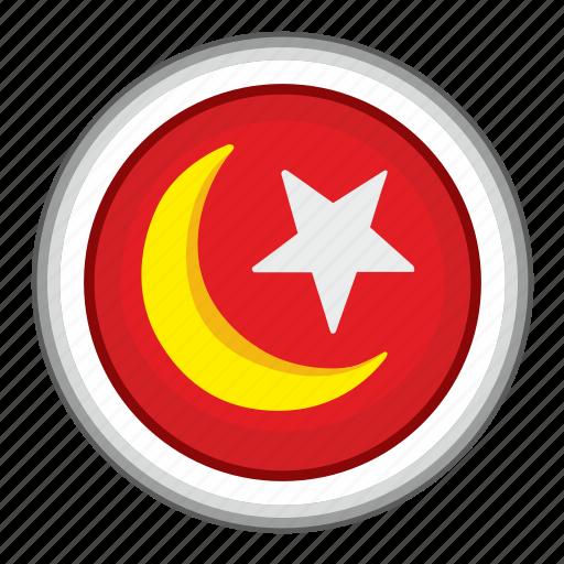islam, moon, religion, round, sign, star icon