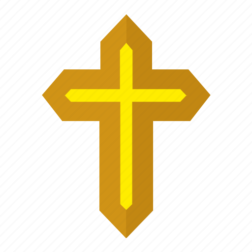 Cross, gold, religion, roman, sign icon - Download on Iconfinder
