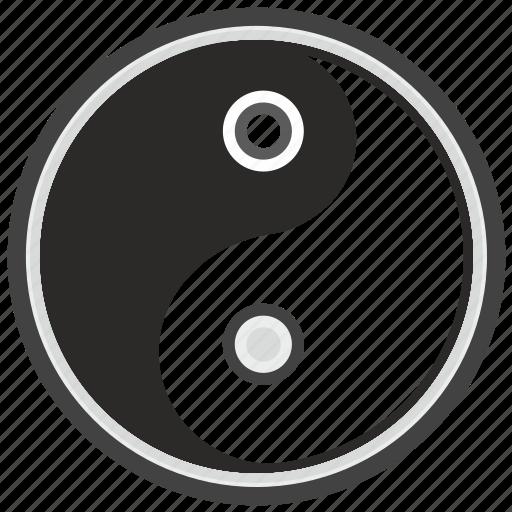 religion, round, sign, taoism, yang, yin icon