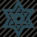 belief, cultures, judaism, spiritual, star of david icon