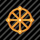 buddhism, dharma, life, religious, wheel icon