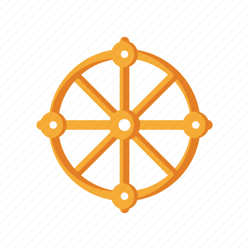 Buddhism, dharma, life, religious, wheel icon - Download on Iconfinder