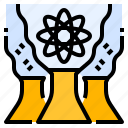 atomic, energy, nuclear, renewable icon