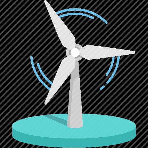 clean, energy, power, renewable, saving earth, wind icon