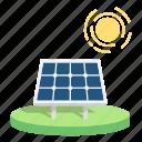 energy, power, renewable, saving earth, solar, solar panels, sun icon